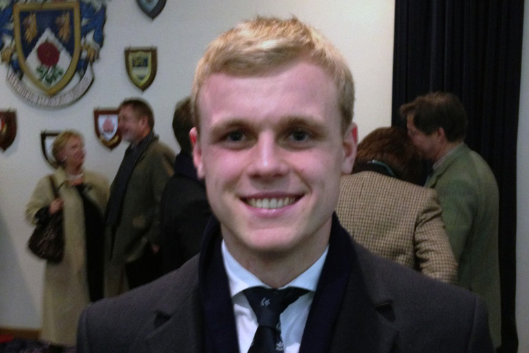 Henry Hughes are Varsity Rugby match
