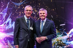 Professor David Clary and Lord Drayson as speakers at The Oxford Science Park's 25th anniversary party hosted by Magdalen College