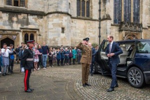 Duke of Cambridge arrives at Magdalen 1