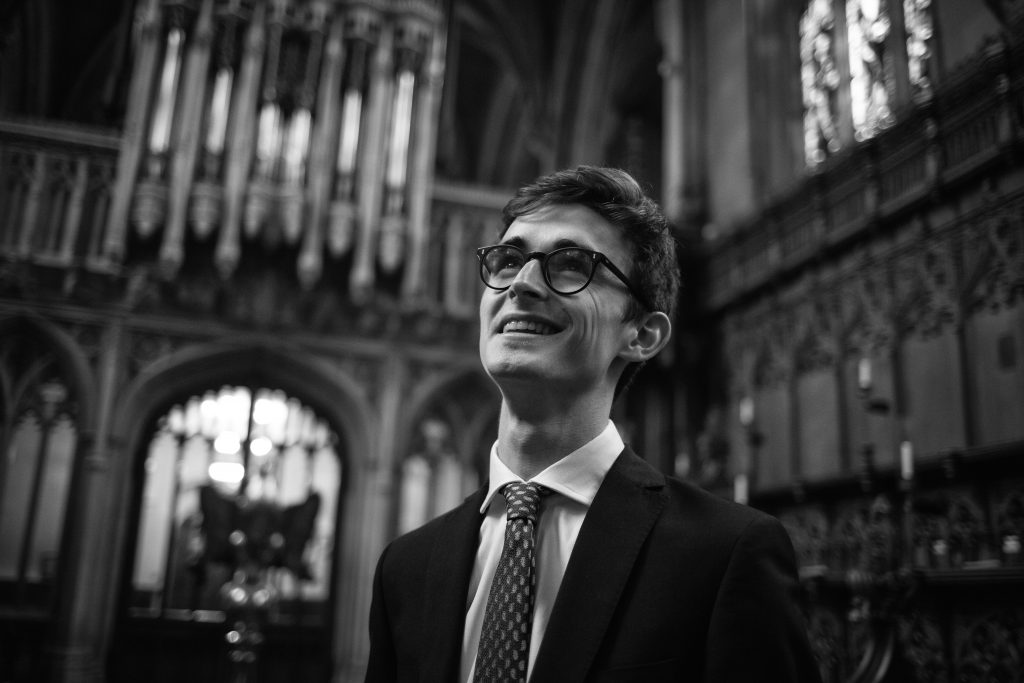 Will Fox, Organist - Portrait of Magdalen College, Oxford University, in Oxford, England, on 5 June 2018.