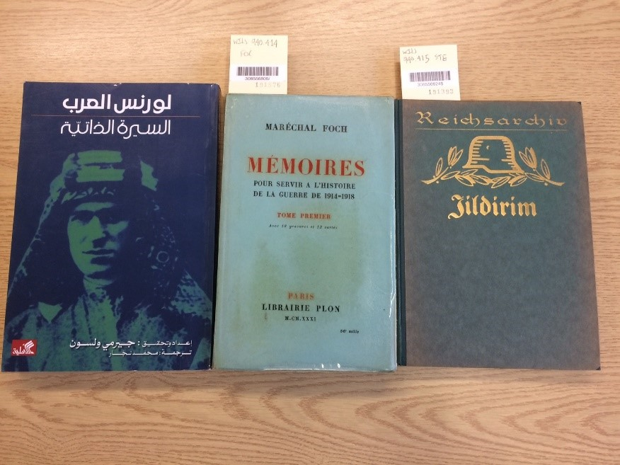 Some of the many books in Wilson's Library in foreign languages.